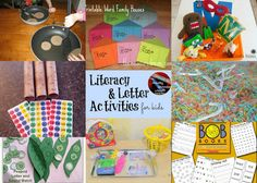 Fun and hands-on Literacy & Letter Activities for kids