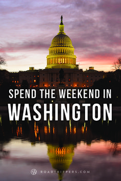 Travel to DC to experience the nation's history first hand.
