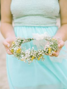 baby's breath floral crown // photo by Mariel Hannah // http://ruffledblog.com/intimate-destination-wedding