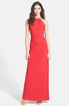 Xscape Jersey Halter Gown available at #Nordstrom