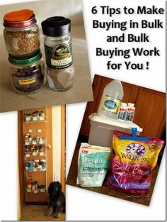 Six tips for saving money when bulk buying and buying in bulk. How to make bulk buying work for you.