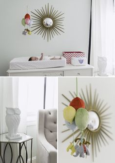 Mobile above changing table
