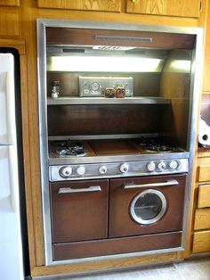 Western-Holly stove.  Love the porthole style window in the oven door!