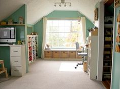 ♥ - someday this will be my craft / art/ sewing room....