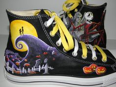 Nightmare Before Christmas Converse! ♥ this page has some other pretty awesome designs as well :)