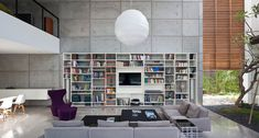Modern space but with actual stuff in it. photo © Pitsou Kedem Architects