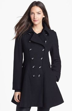 Via Spiga Double Breasted Wool Blend Military Coat available at #Nordstrom
