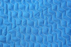 Zig Zag Quilting instructions: feed dogs up, zigzag stitch (as wide as it will go), walking foot, stitch length 3.