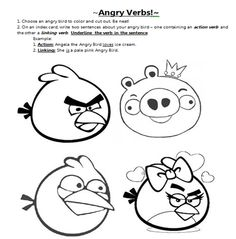 angry birds verbs | Angry Verbs and a CURRENTLY
