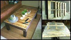 Want a cheap and cheerful coffee table?  Learn how to make one from recycled pallets by viewing the full album of the project and link to instructions...  http://theownerbuildernetwork.co/20rz