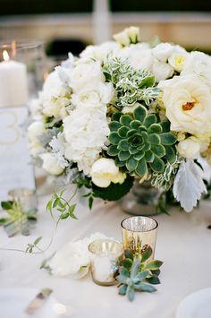 Add an elegant floral arrangement to your tablescape.