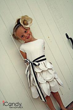 diy petal dress.  Too cute