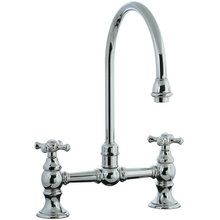 View the Cifial 267.270.721 Double Handle Bridge Kitchen Faucet with Metal Cross Handles from the Highlands Series at FaucetDirect.com.