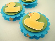 Rubber Ducky Favor Bag Toppers Set of Ten by SimpleTastes on Etsy close bag, favor bags, candy bags, close candi, ducki cloth, bag toppers, rubber ducki, candies, candi bag