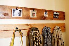 Photos + coat racks inside the front door