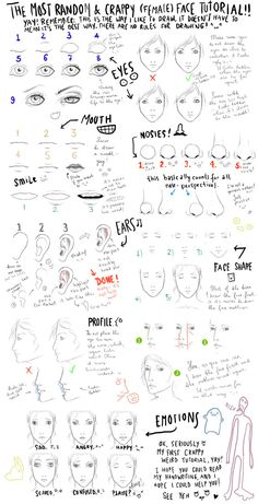 The most random face tutorial by ~Out-of-the-rain #DRAWING repinned by www.BlickeDeeler.de