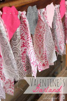 Easy Valentine's Day Garland | MyBlessedLife.net