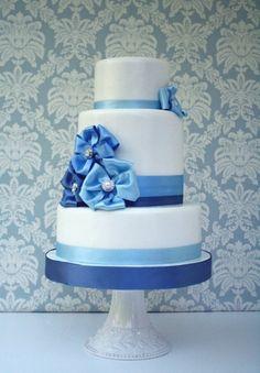 Something #Blue Wedding #Cake