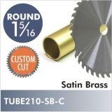"Satin Brass 1-5/16"" Diameter Rod, CUSTOM CUT. Starting at $8.75"