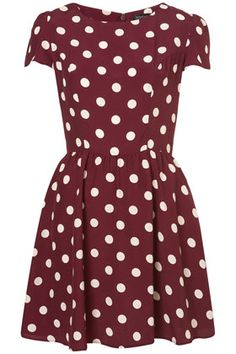 Polka Dot Flippy Dress
