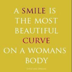 A woman's smile...