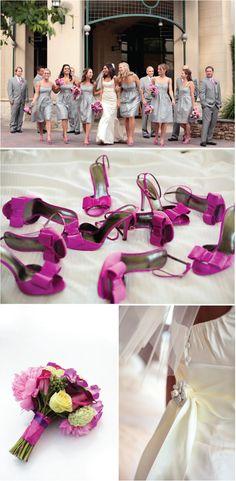 Grey and pink wedding inspiration.