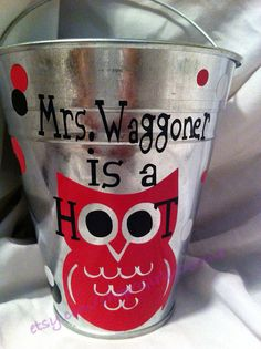 teacher gift, person teacher, teacher bucket
