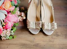 Kate Spade glitter heels – photo by Lauren Fair – view this wedding here: http://ruffledblog.com/riverdale-manor-wedding/