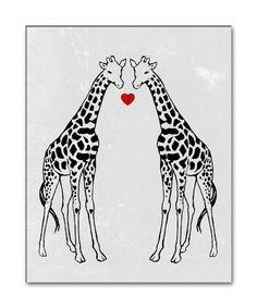 ginorm giraff, vintage illustrations, giraff raffi, etsi, crafti stuff, gicle art, art print, vintag illustr, giraffes