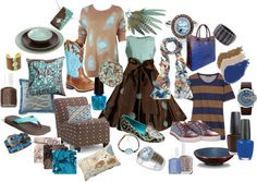 """Blues and Browns"" by cheermom511 on Polyvore"
