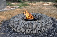 Fire pit built by Mark Jurus