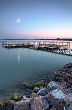 Lake Balaton, Hungary.