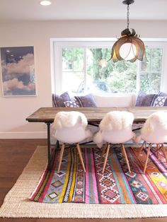 African patterned rug can change the look in an instant