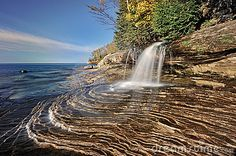 Little Miners Falls, Lake Superior.. Michigan