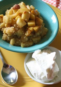 Apple Pie Quinoa #Recipe - a healthy indulgence! via @Erin B B Wilson