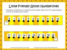 FREE printable thematic number lines - put them in your math centers now!