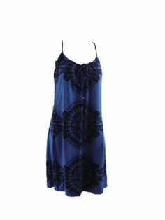 Juicy Couture Hope Print Twist Strappy Womens Dress Size M - Silk Blue --- http://www.pinterest.com.mnn.co/2ol