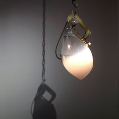 fade glass, clamp pendant