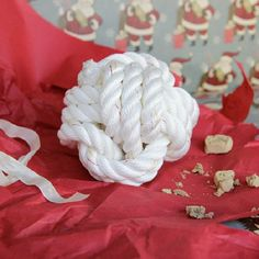 Looking for a gift for Fido? DIY a rope dog toy with a surprise inside!
