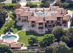 Los Angeles, CA - J.Lo lives in a seven bedroom and fourteen bathroom, 12,217 sq. ft home