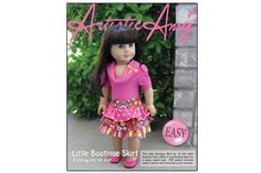 The Little Boutique Skirt Doll Clothes Pattern for American Girl ® | Liberty Jane Doll Clothes Patterns For American Girl Dolls