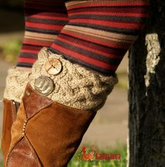 Knitting pattern Boot cuffs