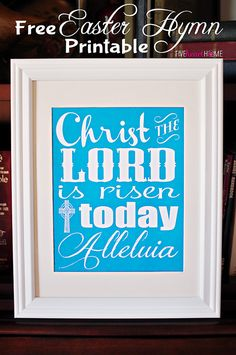 Free Easter Hymn Printable ~ Christ the Lord Is Risen Today {with 3 Color Choices}   FiveHeartHome.com