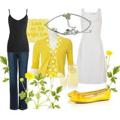 So cute.  Might have to try and wear yellow sometime