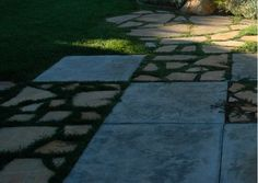 make transition between concrete and grass smoother