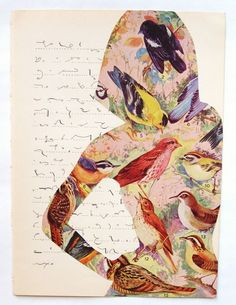 pretti collag, art journal, craft, introspect idea, relianc, bird ladi, origin collag
