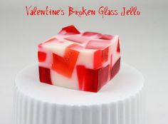 Instant dish for your V-Day potluck: Valentine's Broken Glass Jello (The Food Librarian)