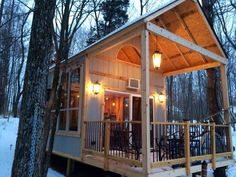 Family Builds Off-Grid Lakeside Cabin Near Columbus, Ohio. We've been building a 192 sq ft cabin with a sleeping loft and front and back porch right on our lake shore.  Our cabin sits on the shore line of a small lake in the woods just west outside if Columbus, Ohio. The building is 16′x12′ with 16′ ceilings, a 4′ front porch and 8′ back porch that overlooks the lake. The sleeping loft is 12′x8′ and has 2 full sized beds.