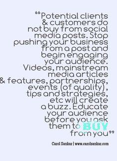 Client attraction tip... -Carol Sankar | www.carolsankar.com