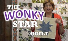 Make a fun wonky star quilt! Super easy tutorial by Jenny Doan,